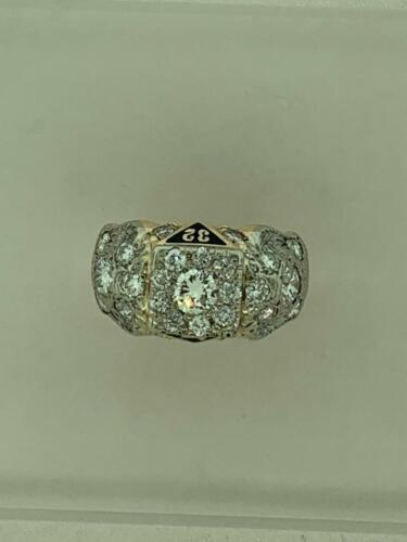 Diamond Scottish Rite Ring Mason