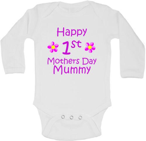 Happy Erste Mütter Tag Mumie Personalisierte Langärmlig Baby Westen Body Mädchen