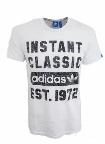 adidas Originals Men s White G Instant Classic Tee T-shirt S04140 S ... e8b85b73d