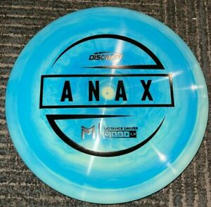 DISCRAFT ESP SWIRLY ANAX 5X PAUL MCBETH DISC GOLF DRIVER BL/BK 173-4G @ LSDISCS