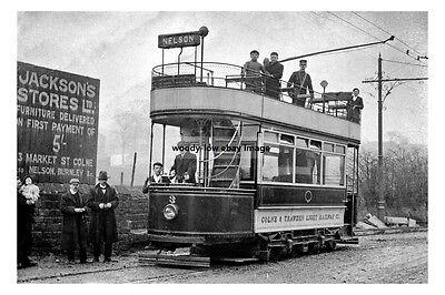 pt0981 - Colne & Trawden Tram No 3 to Nelson , Lancashire - photo 6x4