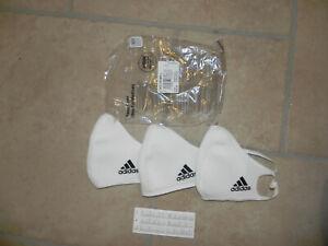 adidas Face Mask CVR small weiß white 3er Pack Set NEU Mundschutz Maske 3 Stück