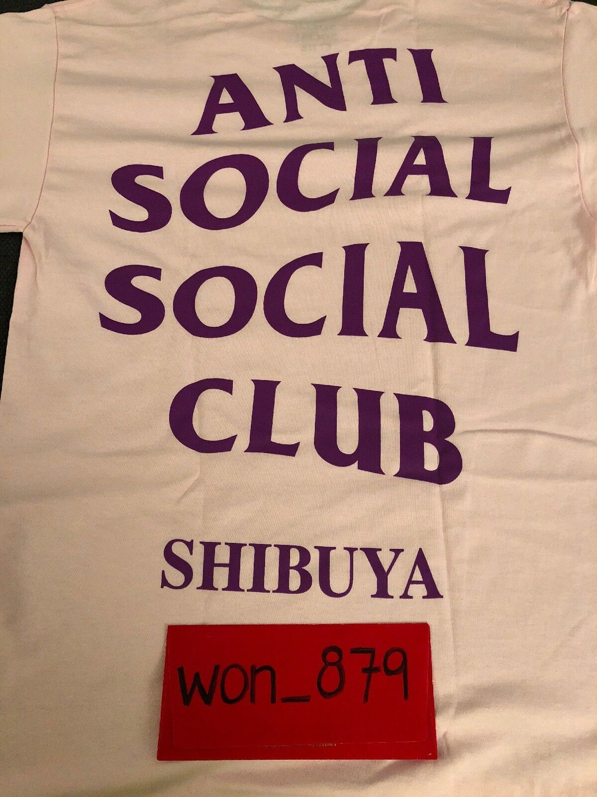 Anti Social Club social rose Shibuya Tee S SOLD OUT dans la main 100% Authentique
