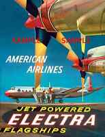 American Airlines 8.5' X 11 Travel Poster - [ Flagship ] -