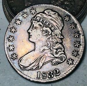 1832 Capped Bust Half Dollar 50C High Grade Choice Good Silver US Coin CC6170