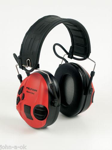 Peltor sporttac rojo y negro de projoección para disparar mt16h210f-478-rd