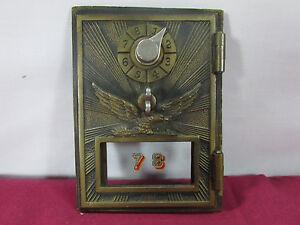 Image Is Loading Vintage Post Office MailBox Door Eagle Sunburst Dial