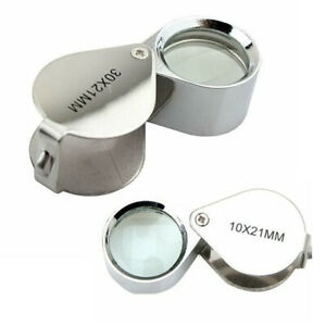10X MAGNIFYING LOUPE JEWELRY EYE GLASS MAGNIFIER JEWELERS LOOP POCKET LOUP