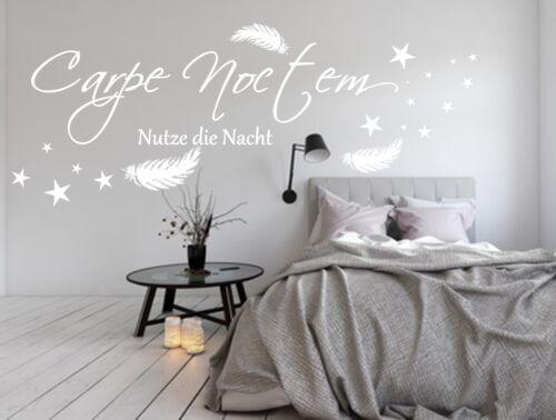 AA491  Wandaufkleber   Wandtattoo   CARPE NOCTEM     Nutze die Nacht    Spruch