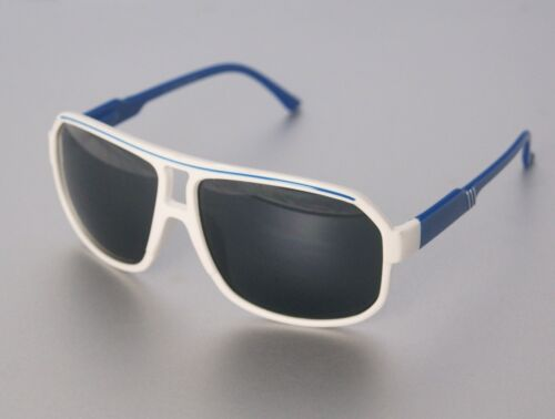 GIL Design Pilotenbrille Sonnenbrille Federscharnier Blau Weiß UV 400 NEU G5
