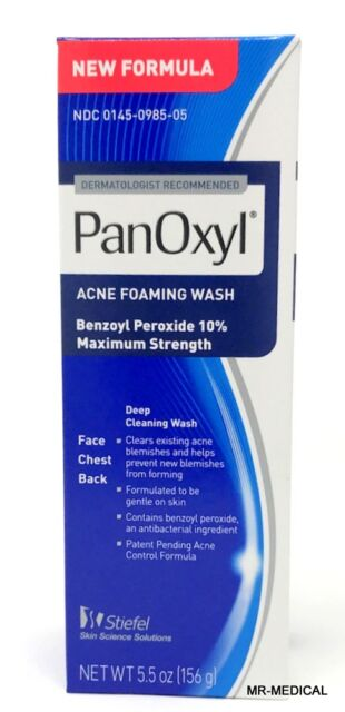 Panoxyl Peróxido Benzoyl Espuma Acné Lavado 10% 163ml - Nuevo
