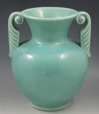 ARTS AND CRAFTS  SHAWNEE POTTERY GREEN VASE LAMP BASE-SAMPLE -ONE OF A KIND