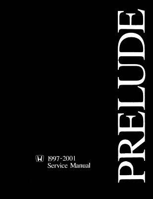 1997 1998 1999 Honda Prelude Shop Service Repair Manual Book OEM Guide
