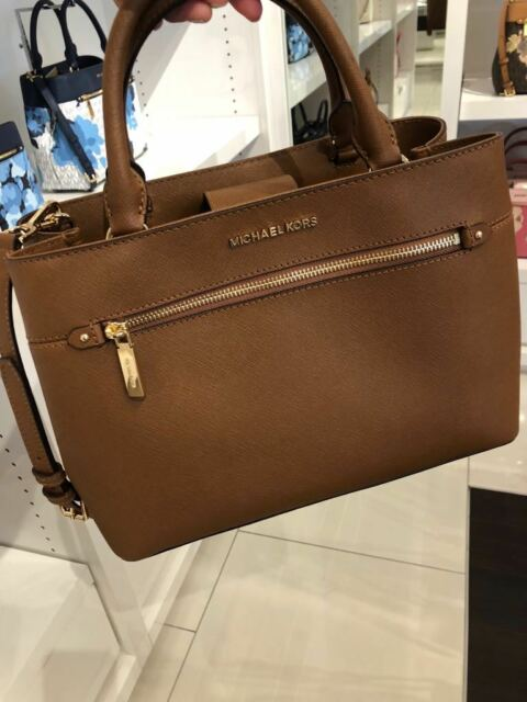 40a1c6067f8b68 Michael Kors Authentic Hailee Brown Leather Satchel Handbag 35s8gx2s2l Purse