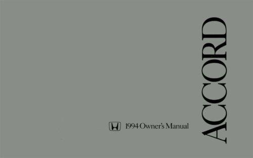1994 Honda Accord Sedan Owners Manual User Guide Reference Operator Book Fuses