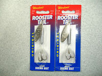 2 X Yakima Bait , Wordens , 3/8 Oz , Rooster Tail Spinners - White (wh) -