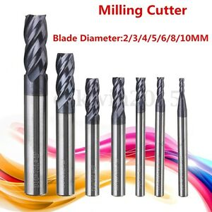2-10MM-Solid-Carbide-Straight-Shank-4Flute-End-Mill-CNC-Milling-Cutter-Drill-Bit