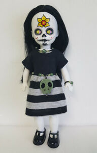 OOAK-Living-Dead-Doll-Clothes-Dress-Skull-Belt-amp-Jewelry-Fashion-NO-DOLL-d4e