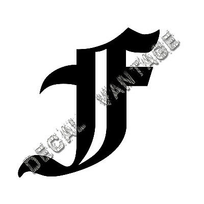 Old English G Letter Initial Vinyl Sticker Decal Font Diploma Choose Size /&Color