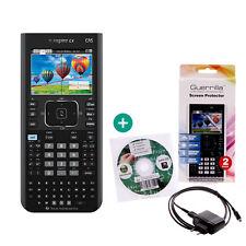 TI Nspire CX CAS Taschenrechner Grafikrechner + Schutzfolie Lern-CD Ladekabel