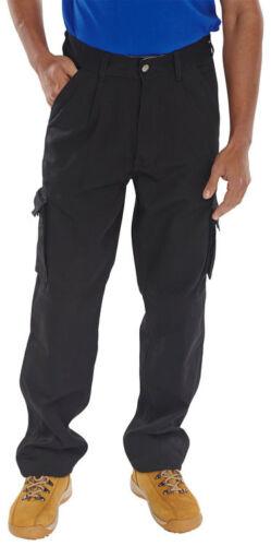 Traders Travail Noir Newark Pantalon Haute Qualité Durable Confortable Cargo Poche