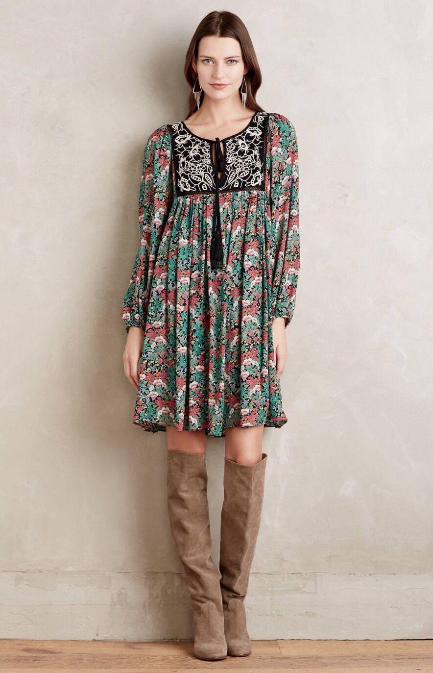 d277e2b404763f NEW Otteva Peasant Dress Größe Small Floral Print Anthropologie ...