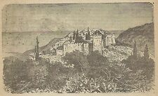 A3120 Benares - Veduta - Stampa Antica del 1887 - Incisione