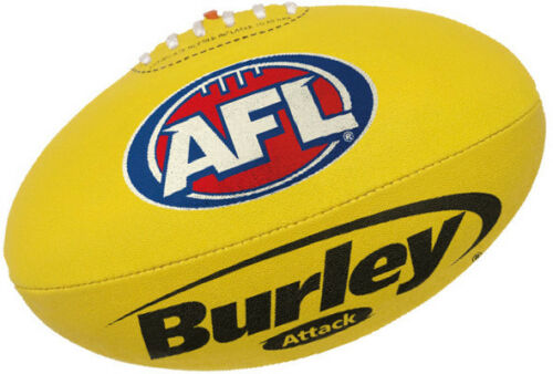 "AFL BURLEY ""ATTACK"" SYNTHETIC YELLOW FULL SIZE FOOTBALL BRAND NEW"