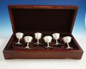 La-Paglia-by-International-Sterling-Silver-Sorbet-Cups-Set-6pc-in-Box-3053