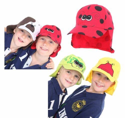 boys girls hats summer beacch animal legionnaire neck protector