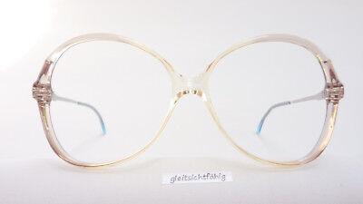 Vintagebrille Discreta Donna Versione Sottilmente Grigi 70er Anni Boho Grandi Bicchieri Taglia M-mostra Il Titolo Originale