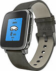 Pebble Time Steel 38mm Stainless Steel Case Black Classic Buckle - (511-00024)