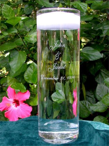 Personalized Wedding Floating Unity Candle /& Vase NEW