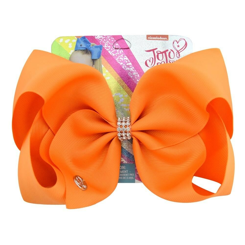 8 inch Pure Color JoJo Siwa Hair Bow With Alligator Clip Girl Kids Bowknot