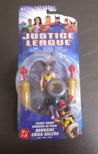 Hawkgirl Silver Storm 2004 JUSTICE LEAGUE Mattel MOC DC Comics