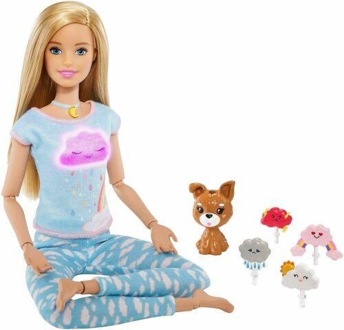 Bionda Luci /& guidato Yoga GMJ72 Barbie respirare con me meditazione Bambola