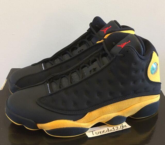 0d4c1251d1af Nike Air Jordan 13 Retro Melo Class of 2002 Size 12 Black Yellow 414571 035