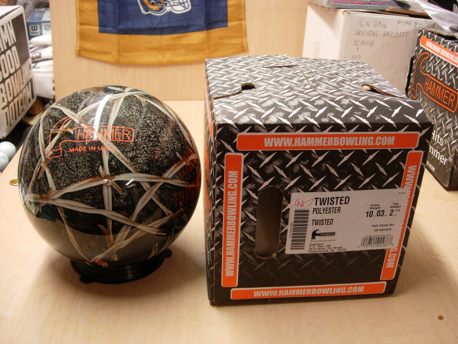 = 10oz NIB Hammer TWISTED Tough Clear Polyester Bowling Ball