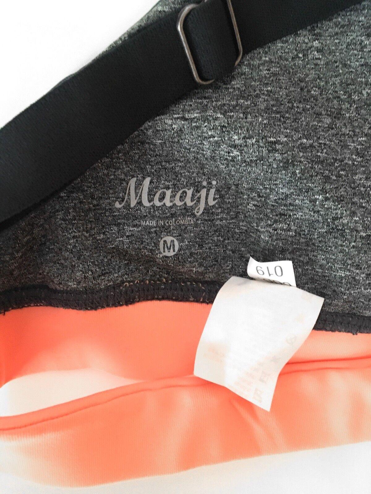 Maaji Donna Sports In Bra Gym Yoga Workout Active In Sports esecuzione Size Medium M c106c7