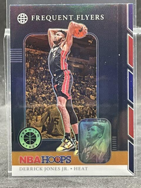 2019-2020 NBA Hoops Premium Stock DERRICK JONES JR Frequent Flyers ORANGE Prizm