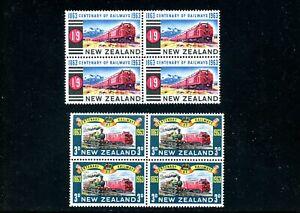 Lot 82432 Mint Nh 360 361 Blocks Of 4 Trains Locomotive Stamps New Zealand Ebay