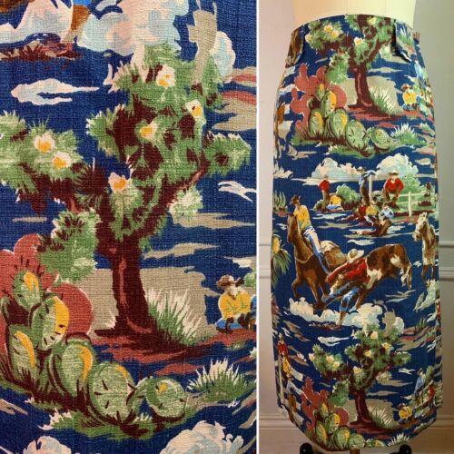 Vintage Western Landscape Wrap Maxi Skirt