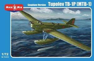 Kit modèle Micro Mir 1/72 72-010 Tupolev Tb-1p (mtb-1) (version hydravion)!