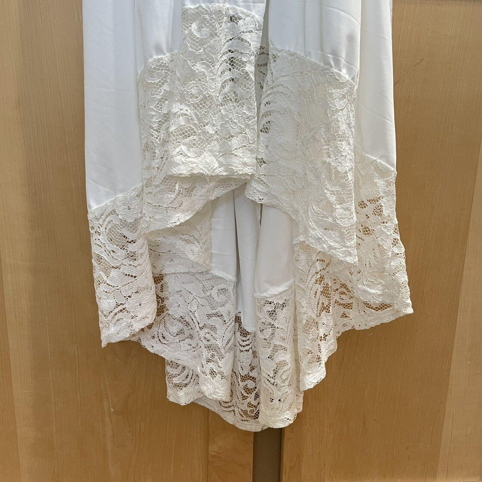 Vintage White Lace Gown Wedding Lingerie Prairie … - image 10