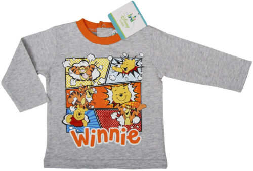 Winnie Pooh Baby Langarmshirt Rot oder Grau