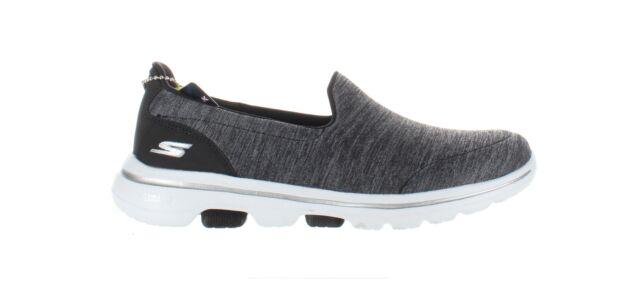 Skechers Womens Go Walk 5 Black/White Walking Shoes Size 6.5 (1861497)