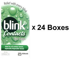 24x Abbott Blink Contacts Eye Drop 10mL(0.34 FL OZ) Ideal For All Contact Lenses