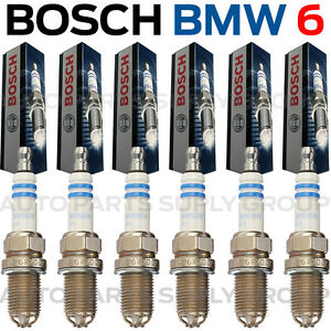 Details about 6PC BMW Spark Plugs Bosch OEM Platinum+4 Factory High Power  Set E39/E46-M54 NEW