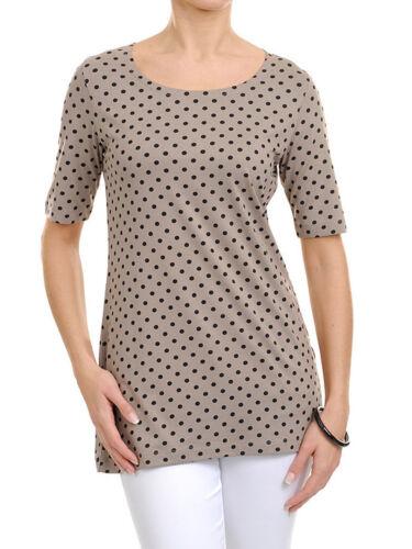 T-shirt Femmes Chemise Longue Courte Bras Christa Probst Munich 600147
