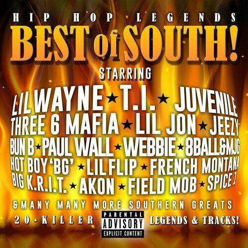 Various Artists - Hip Hop Legends: Best Of The South! CD NEW